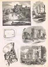 1854 Leaning Tower Caerphilly Gateway Cowling Castle Tutbury Castle Yard