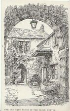 Devon Postcard - The Old Gate House in The Close - Exeter - Devon  A5936