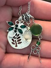 """Dragonfly Green Artisan Crafted Alpaca Silver 18"""" Necklace AF52"""