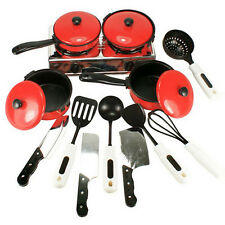 New Children Kitchen Appliance Preschool Cooking Play Toy Set Pots Pans 13PCs