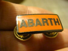 BADGE LOGO FREGIO ABARTH SCRITTA OLD ITALY PER CARBURATORI FIAT 500 850 600