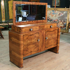 CUPBOARD WITH MIRROR ITALIAN BRIAR ART DECO PERIOD '900 (L 162 cm) PARINO