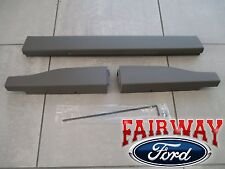 11 thru 16 Ford F250 F350 OEM Ford Flex Step Tailgate Molding 3pc Set King Ranch