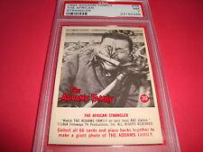 """1964 Addams Family #39 """"african strangler"""" psa 7  Gomez"""