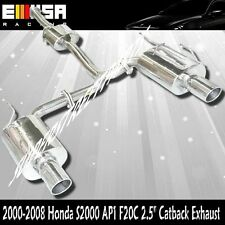 Oval Tips Stainless Steel Catback Exhaust for 2000-2009  Honda S2000 AP1 F20C