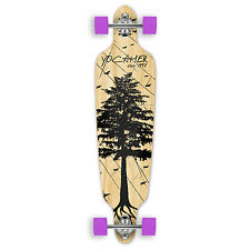 Yocaher In The Pines Series: Drop Through Complete Longboard Natural