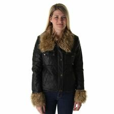 MEMBER ONLY NWT Black Faux Fur trim Lined Jacket XL