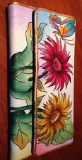 Articious Brand New Hand Painted  Leather Wallet Bag Handbag Clutch 18.5x9.5 Cm