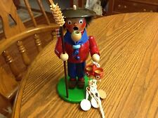 """Steinback Wood Smoker Incense Burner Peddler Used Approx 8"""" tall"""