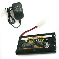 1 x 9.6V 2x4 8AA 2200mAh NI-MH Rechargeable Battery Pack Tamiya RC + Charger US