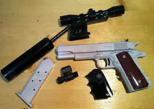 US Colt M1911 Pistol 1:1 Scale Can be Disassembled Paper Model Gun Kit