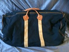 """27"""" LL Bean Brown Canvas & Leather Oversized Duffle Bag USA"""