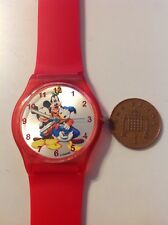 DISNEY MICKEY DONALD AND GOOFY WRIST ART WATCH
