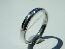 Bague Alliance Acier Inoxydable Forever Love + Strass
