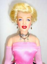 "Franklin Mint Marilyn Monroe Gentlemen Prefer Blondes 16"" Vinyl Doll Pink Outfit"