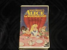 Alice in Wonderland Disney Classics Black Diamond Edition VHS Tape 036