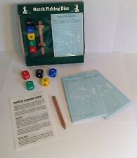 Vintage Match Fishing Angling Dice Game Notepad Pencil BOXED GIFT