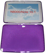 Pattern Gel Case Protector Cover Purple For Samsung Galaxy Note 10.1 N8000 N8010