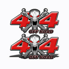 4X4 OFF ROAD Decals RED SKULL Graphic Toyota Chevy Ford Dodge Truck Mk401OR4