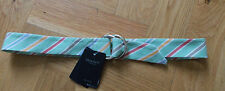 BNWT GANT WOMAN LADIES COTTON OXFORD STRIPED O RING BELT SMALL