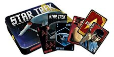 Star Trek tin containing two packs of 52 playing cards   (nm)