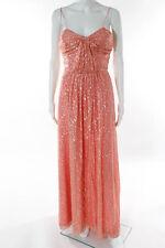 ERIN Erin Fetherston Pink Silk Coconut Rum Twist Gown Size 4 $550 10210033