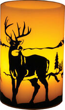 WESTERN RUSTIC RANCH LODGE HOME DECOR LED FLAMELESS BUCK DEER CANDLE