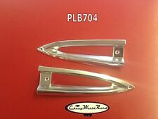 1959  CHEVROLET 59 IMPALA BISCAYNE PARK PARKING LIGHT BEZELS PAIR