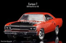 GMP 18807  Dom's 1970 Plymouth Road Runner Furious 7 Diecast Car 1:18 SOLD AS IS