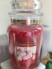 22 OZ YANKEE CANDLE COOKIE SWAP COLLECTION CANDY CANE MERINGUE LARGE JAR CANDLE
