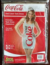Diet Coke Tank Dress Up Soda Bottle Can Coca-Cola Halloween Adult Costume