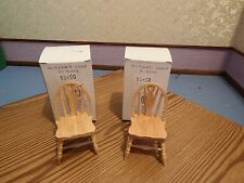 Doll House Emporium Furniture 2x BELLE SEDIE IN PINO PAESE SCALA 1.12th