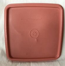 Tupperware 1363-21 Mauve Dusty Pink Square Replacement Lid Sandwich Container