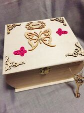 Wooden XL large Keepsake Memory Box Chest Personalised Woman, Child , Baby GIFT