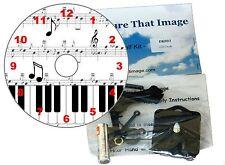 DIY CD Clock KIT. Musical Notes, Piano keys and Sheet Music Wall or Desk Clock.