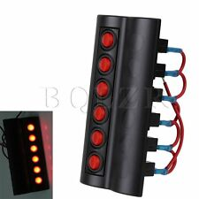 Marine DC12V Red LED Boat Car 6 Gang Circuit Rocker Switch Panel Breaker PN-RP6