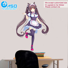 Anime Wall Sticker Neko Para Chocola colorful home Art Vinyl Decal Decor sticker