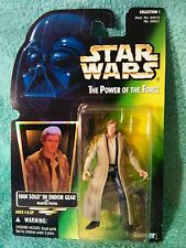 HAN SOLO Endor Trench coat Star Wars Power of the force figure 1996