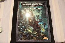 Juegos taller Warhammer 40k Eldar Oscuro Codex 2010 libro buenas condiciones ejército fuera de imprenta