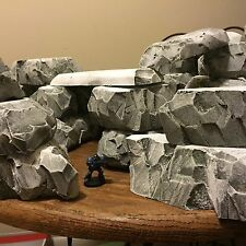 Wargaming terrain: Custom Terrain, Giant Lot Of 25 Pieces!