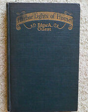 HARBOR LIGHTS OF HOME  Edgar Guest 1928 FIRST EDITION HCr Reilly Lee Poetry RARE
