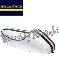 9217 - SELLA SELLONE A GOBBA BIANCA FASCIA TRICOLORE VESPA 50 SPECIAL R L N