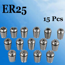 15PCS Precision ER25 Spring Collet Set (From 2mm-16mm) for CNC milling tool dlz