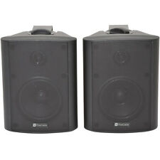 "Pair 4"" 2 Way Stereo Speakers -70W 8Ohm Black Mini Wall Mounted Background Hi-Fi"