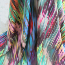Colorful Striped Lycra Satin Charmeuse Fabric Imitate Silk Material Spandex Poly