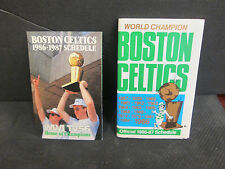 NBA-BOSTON CELTICS 1986-87  16  WORLD CHAMPIONTITLES SCHEDULE &BIRD W/ TROPHY