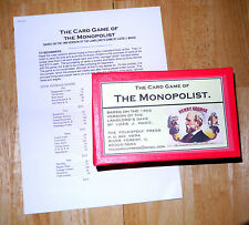 The Card Game of the Monopolist, 1898 Style Repro/The Landlord's Game (Monopoly)