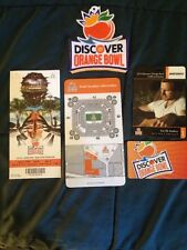 Orange Bowl 2014 DISCOVER Appliqué Ticket Stub Location Card. 2 ID Cards