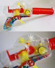 ULTRA RARE VINTAGE 70'S GREEK SPACE RAY GUN SPARKLING LIGHT FRICTION GREECE NEW!