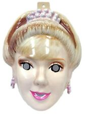 Rubie's Barbie Doll PVC Plastic Half Mask Princess Blonde Costume Accessory New